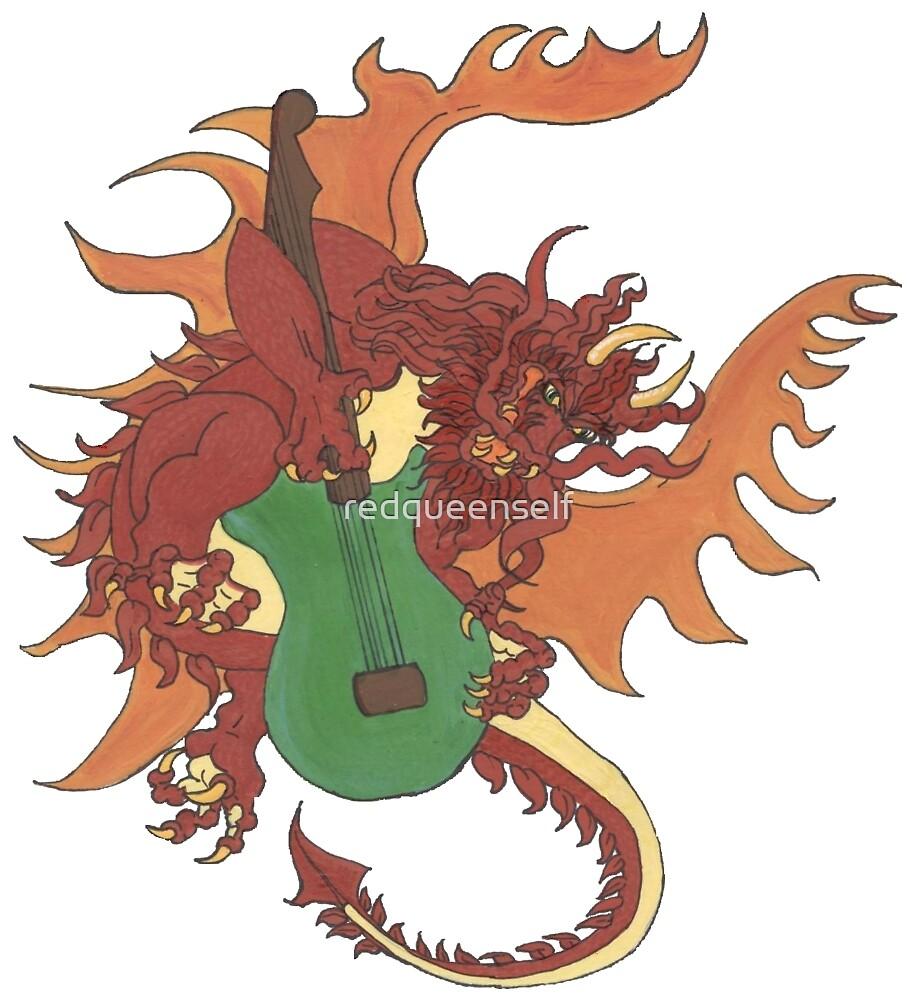 Riff the Music Dragon by redqueenself