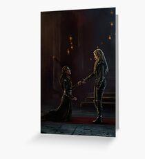 Lexa bows to Clarke Greeting Card