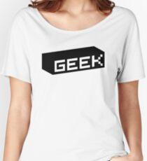 Geek - Black Women's Relaxed Fit T-Shirt
