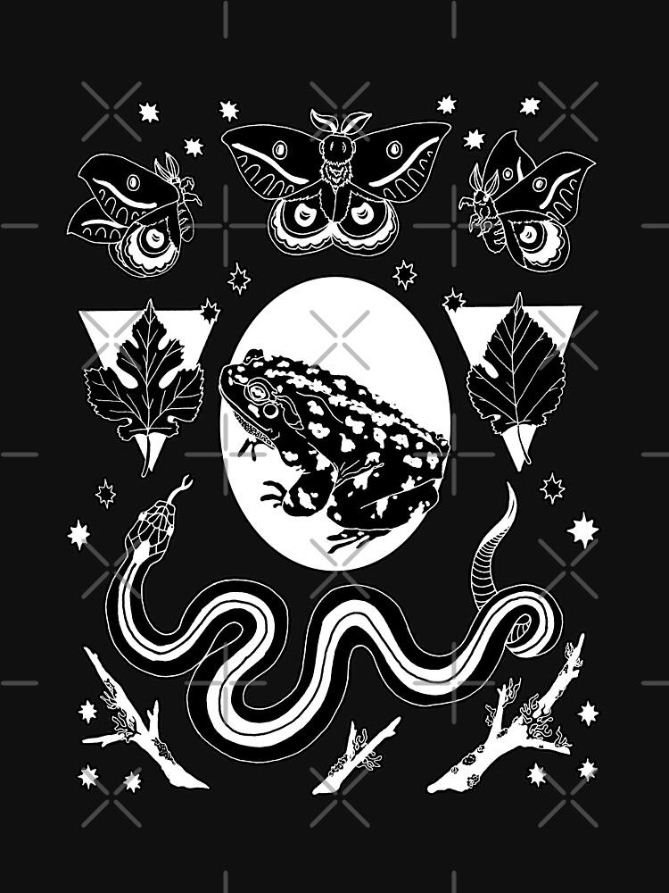 food chain | nature punk illustration by craftordiy