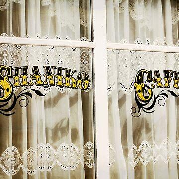 Shaniko Cafe Sign by Zigzagmtart