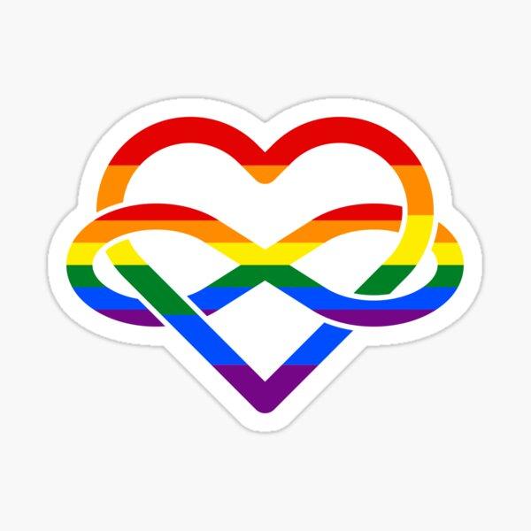 Rainbow Polyamory Infinity Heart Sticker