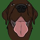 Happy Chocolate Lab  by rmcbuckeye