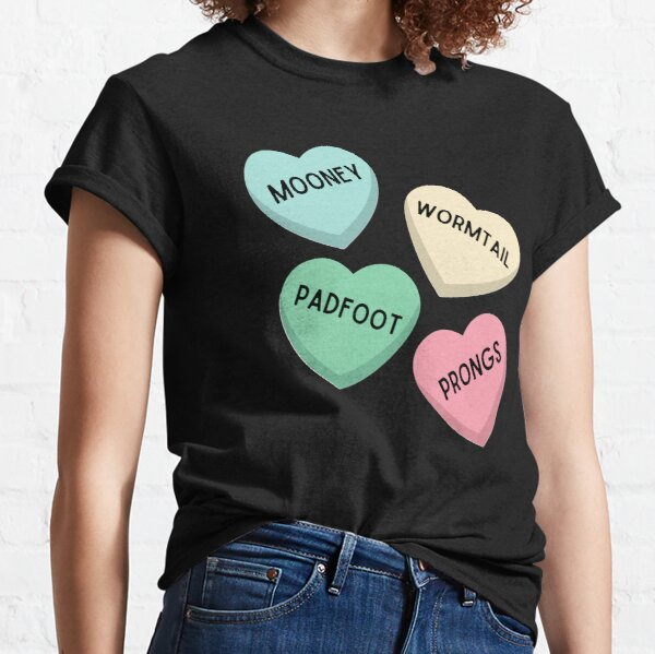 Mooney Wormtail Padfoot Prongs Candy Hearts T-shirt classique