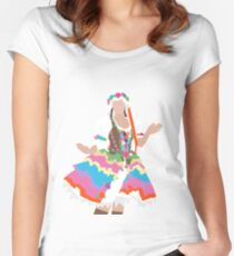 Floral Maiden Women's Fitted Scoop T-Shirt