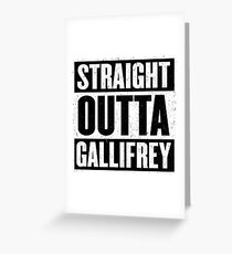 Straight Outta Gallifrey - The Time Lord's in the Hood - Movie Mashup - Geek Humor - Syfy - Doctor Who Mashup Greeting Card
