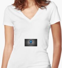 Portal Aperture Laboratories  Women's Fitted V-Neck T-Shirt
