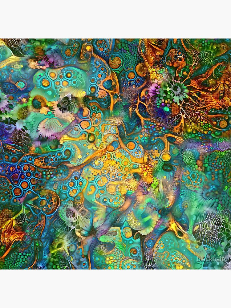 Deepdream floral fractalize abstraction by blackhalt