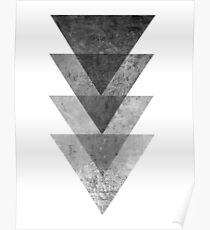 Geometric Gray Triangle Print Poster