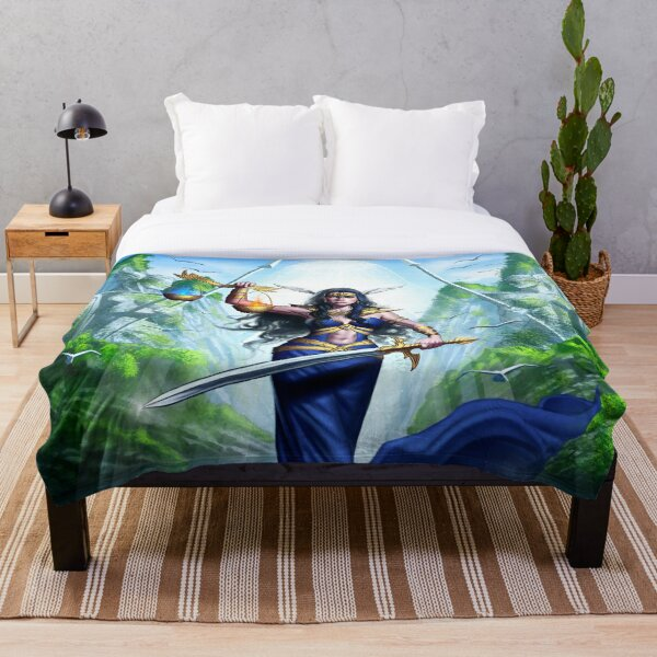Lady Justice Throw Blanket