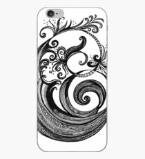 The Letter E, Ink Drawing iPhone Case
