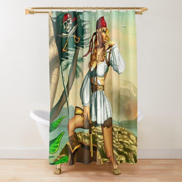 Pirate Girl Shower Curtain