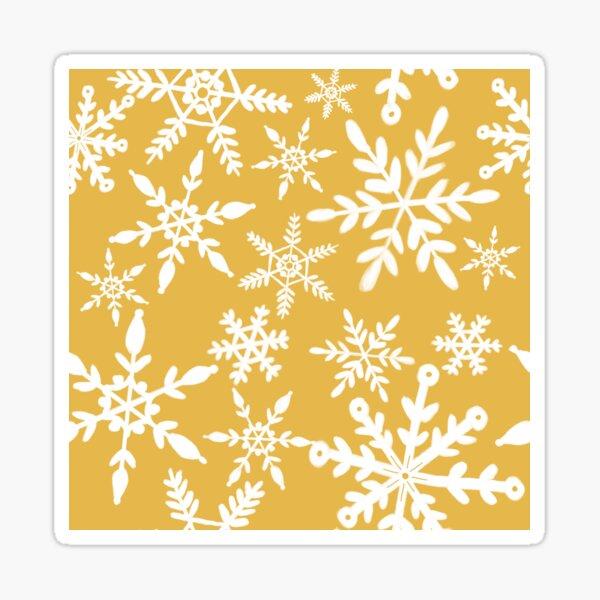 Playful snowflakes ~ yellow Sticker