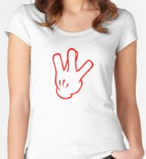 West Side - Red Women's Fitted Scoop T-Shirt