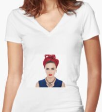 Morgane #2 Women's Fitted V-Neck T-Shirt