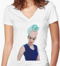 Morgane #3 Women's Fitted V-Neck T-Shirt