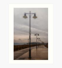 Platform in the drizzle Art Print
