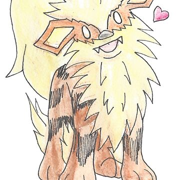 Arcanine Watercolour by Nessabee
