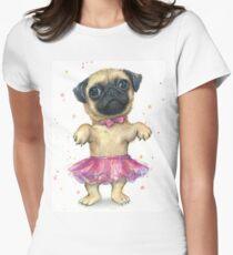 Pug in a Tutu Women's Fitted T-Shirt