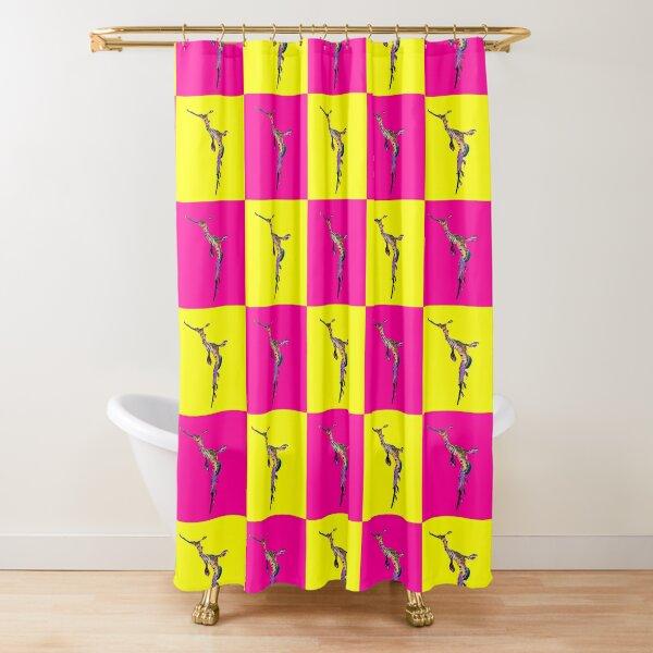 Weedy Seadragon Colour Punch Shower Curtain