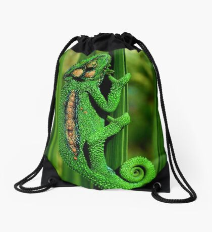 Cape Dwarf Chameleon II Drawstring Bag