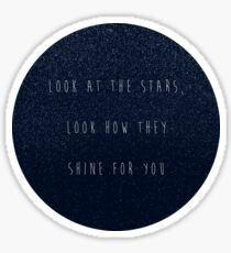 look at the stars Sticker