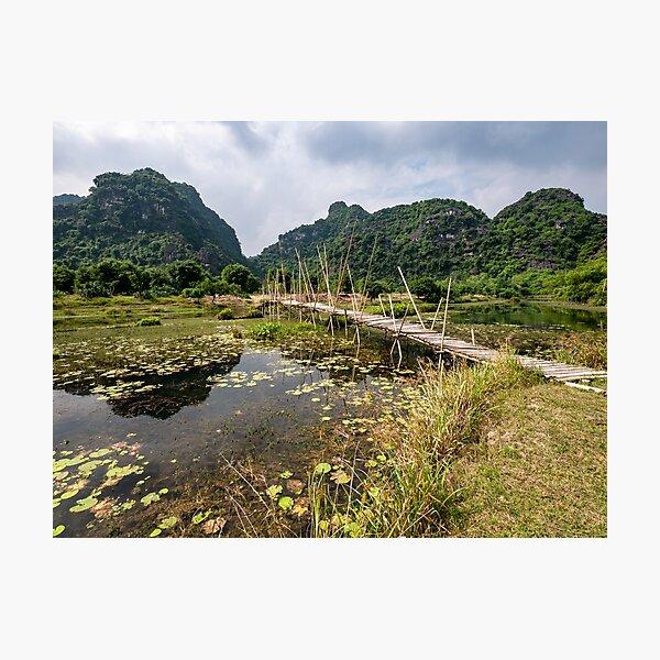 Limestone Karst Peaks, Trang An Region, Vietnam Photographic Print