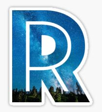 The Letter R - Starry Night Sticker