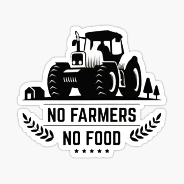 Pas d'agriculteurs pas de nourriture Sticker