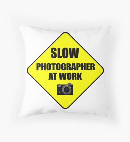 slow photographer Throw Pillow