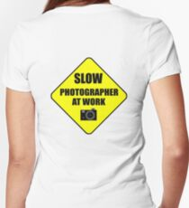 slow photographer Women's Fitted V-Neck T-Shirt