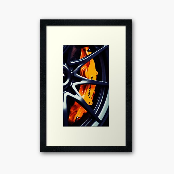 McLaren formula one F1 logo design  Framed Art Print