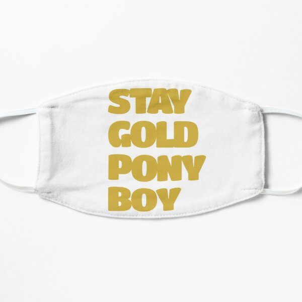 Ponyboy Face Masks Redbubble Find the exact moment in a tv show, movie, or music video you want to share. redbubble