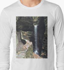 Watkins Glen State Park in New York , USA Long Sleeve T-Shirt