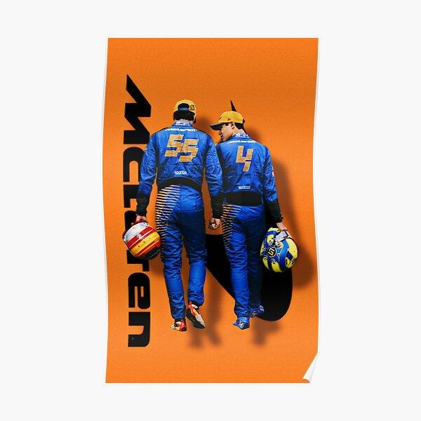 Lando Norris Carlos Sainz Mclaren Fórmula 1 Póster