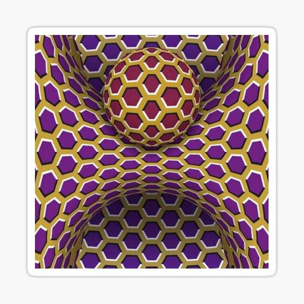 Visual Motion Illusion Sticker