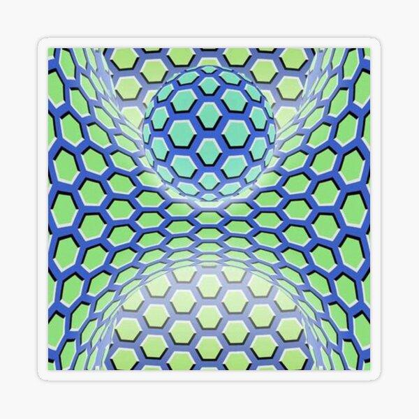 Visual Motion Illusion Transparent Sticker