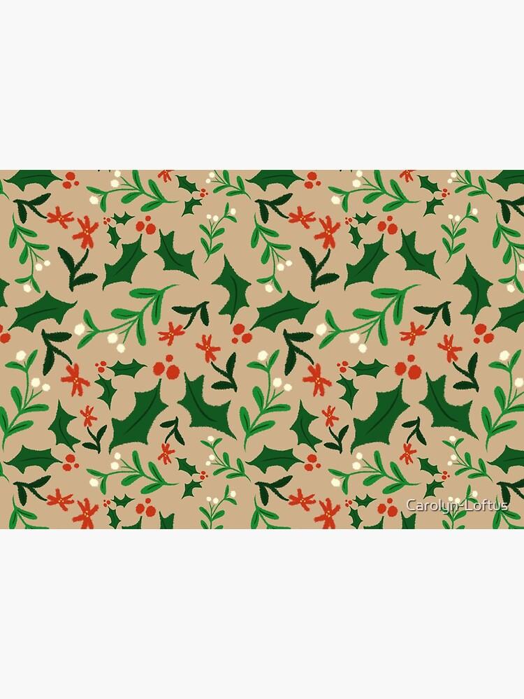 Christmas-Holly & Mistletoe by Carolyn-Loftus