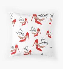Christian Louboutin shoes Throw Pillow