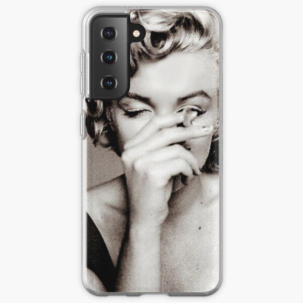 "Candid Snap of ""Marilyn Monroe Smoking a Cigarette"" Samsung Galaxy Soft Case"