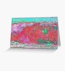 Wave Breaking - Abstract Greeting Card