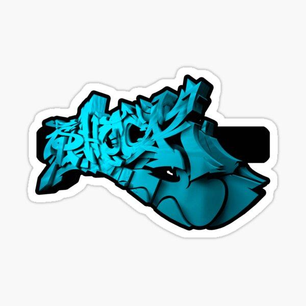 Graffiti SHOCK 3D (Azul) Pegatina