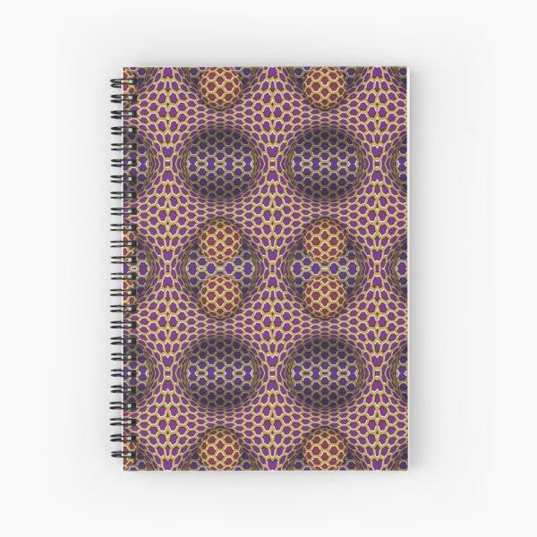 Visual Motion Illusion Spiral Notebook