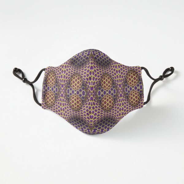 Fitted Masks, Visual Motion Illusion Fitted 3-Layer