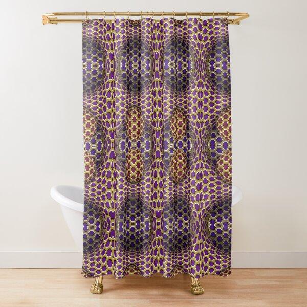 Visual Motion Illusion Shower Curtain