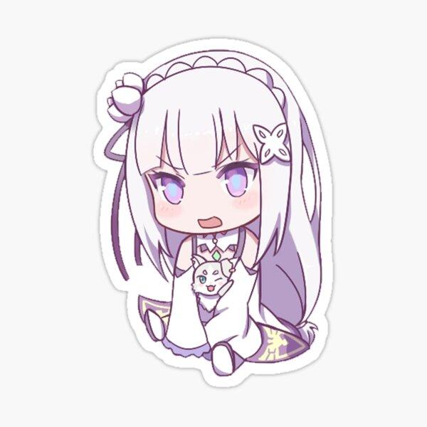 Re:Zero Emilia Chibi Sticker