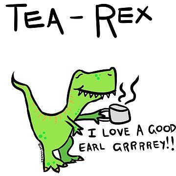 Tea Rex by bluevanart