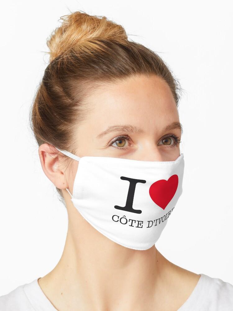 I Love Cote D Ivoire Mask By Eyesblau Redbubble