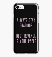 best revenge is your paper iPhone Case/Skin
