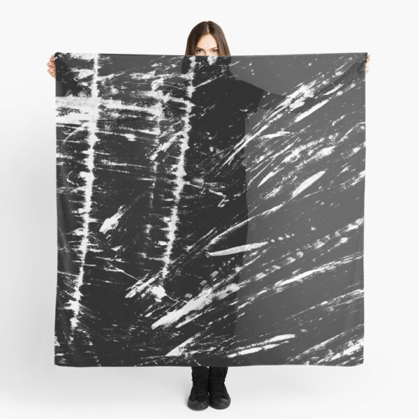 Scratched black background Scarf